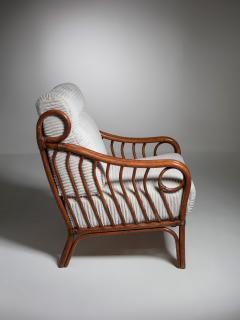 Italian 60s Wicker Lounge Chairs - 1502079
