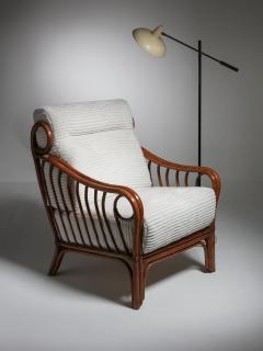 Italian 60s Wicker Lounge Chairs - 1502083