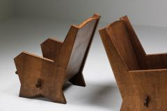 Italian Armchairs in Stained Beech 1940s - 1999138