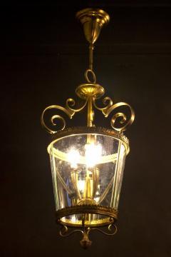 Italian Art Deco Brass Lantern or Pendant 1940s - 1995924