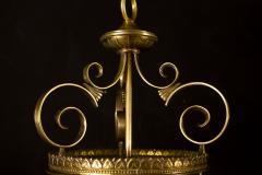 Italian Art Deco Brass Lantern or Pendant 1940s - 1995925