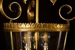 Italian Art Deco Brass Lantern or Pendant 1940s - 1995926