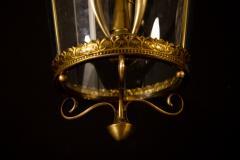 Italian Art Deco Brass Lantern or Pendant 1940s - 1995927