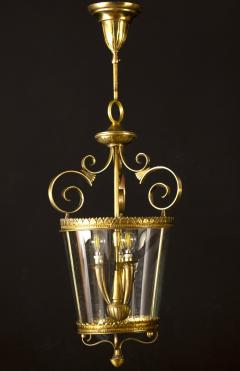 Italian Art Deco Brass Lantern or Pendant 1940s - 1995932