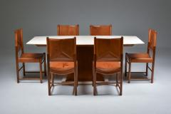 Italian Art Deco Dining Table with Marble Top Japan Inspired 1940s - 1999080