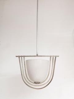 Italian Art Deco Pulegoso Murano Glass Chandelier - 2132944