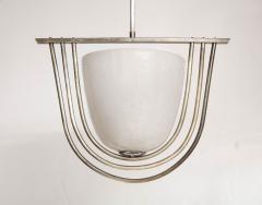 Italian Art Deco Pulegoso Murano Glass Chandelier - 2132946