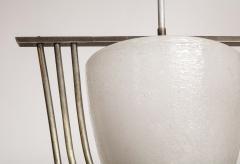 Italian Art Deco Pulegoso Murano Glass Chandelier - 2132947