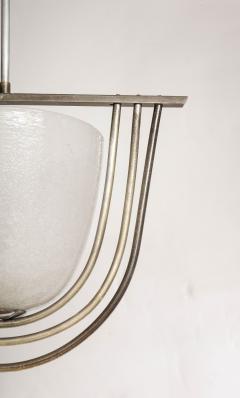 Italian Art Deco Pulegoso Murano Glass Chandelier - 2132948