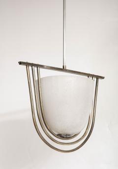 Italian Art Deco Pulegoso Murano Glass Chandelier - 2132950