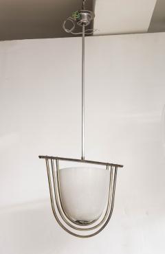 Italian Art Deco Pulegoso Murano Glass Chandelier - 2132952
