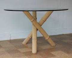 Italian Bamboo Tripod Dining Table - 260919