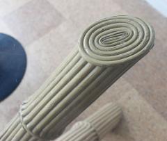 Italian Bamboo Tripod Dining Table - 260922