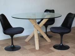 Italian Bamboo Tripod Dining Table - 260923