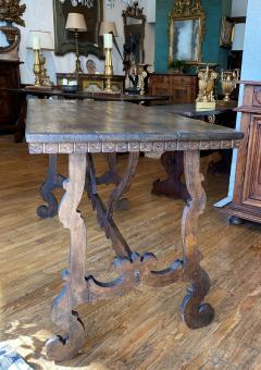 Italian Baroque Walnut Trestle Table Circa 1740 - 1670236