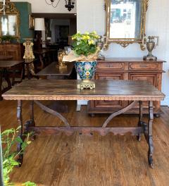 Italian Baroque Walnut Trestle Table Circa 1740 - 1670239