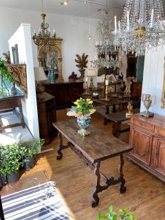 Italian Baroque Walnut Trestle Table Circa 1740 - 1670240