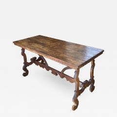 Italian Baroque Walnut Trestle Table Circa 1740 - 1670520