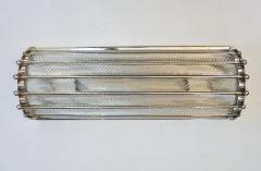Italian Bespoke Art Deco Design Crystal Murano Glass Half Moon Nickel Wall Light - 1958660