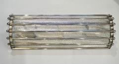 Italian Bespoke Art Deco Design Crystal Murano Glass Half Moon Nickel Wall Light - 1958662