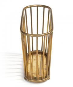 Italian Brass Dowel Basket Magazine Stand for Gumps - 774532