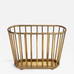 Italian Brass Dowel Basket Magazine Stand for Gumps - 777245