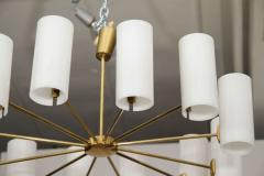 Italian Brass and Perspex Chandelier Wagon Wheel Shape - 1093958
