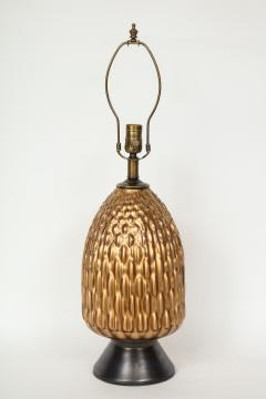 Italian Bronze and Coppered Glass Artichoke Lamps - 757892