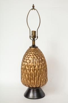 Italian Bronze and Coppered Glass Artichoke Lamps - 757895