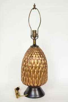 Italian Bronze and Coppered Glass Artichoke Lamps - 757897