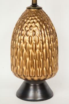 Italian Bronze and Coppered Glass Artichoke Lamps - 757898