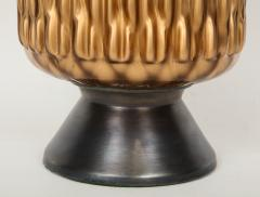 Italian Bronze and Coppered Glass Artichoke Lamps - 757901