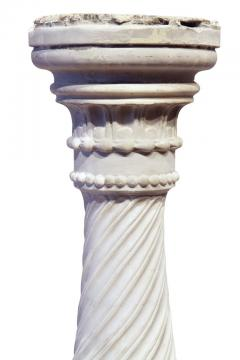 Italian Carrera Marble Pedestal - 1568079