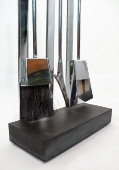 Italian Chrome Plated Fireplace Tool Set - 1218015