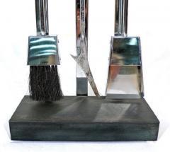 Italian Chrome Plated Fireplace Tool Set - 1218017