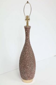 Italian Cocoa Brown Lava Glazed Lamps - 922091