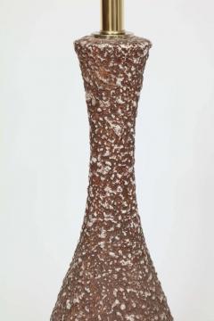 Italian Cocoa Brown Lava Glazed Lamps - 922094
