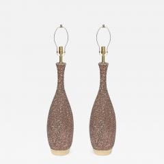 Italian Cocoa Brown Lava Glazed Lamps - 923517