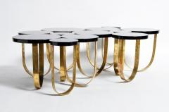 Italian Coffee Table with Brass Legs - 1194128