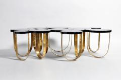 Italian Coffee Table with Brass Legs - 1194129