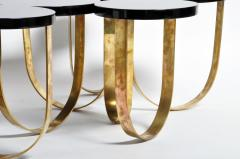 Italian Coffee Table with Brass Legs - 1194132