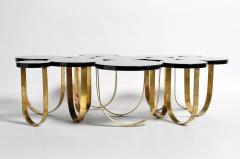 Italian Coffee Table with Brass Legs - 1194141