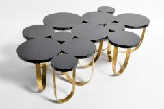 Italian Coffee Table with Brass Legs - 1194142