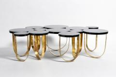 Italian Coffee Table with Brass Legs - 1194146