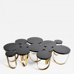 Italian Coffee Table with Brass Legs - 1195191