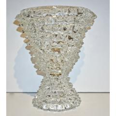 Italian Contemporary Pair of Crystal Rostrato Murano Glass Table Lamps - 1979794