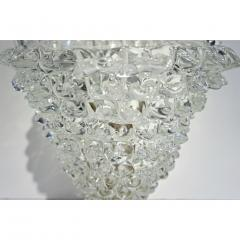 Italian Contemporary Pair of Crystal Rostrato Murano Glass Table Lamps - 1979795