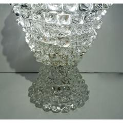 Italian Contemporary Pair of Crystal Rostrato Murano Glass Table Lamps - 1979803