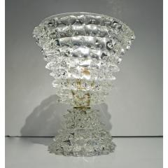 Italian Contemporary Pair of Crystal Rostrato Murano Glass Table Lamps - 1979804
