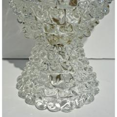 Italian Contemporary Pair of Crystal Rostrato Murano Glass Table Lamps - 1979805